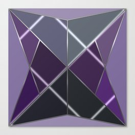 Mosaic tiled glass with a laser show Canvas Print