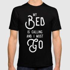 My Bed is Calling Mens Fitted Tee MEDIUM Black