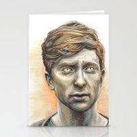 kieren walker Stationery Cards featuring Kieren Walker by laya rose