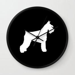 Schnauzer silhouette dog breeds custom dog lover t shirt minimal Wall Clock