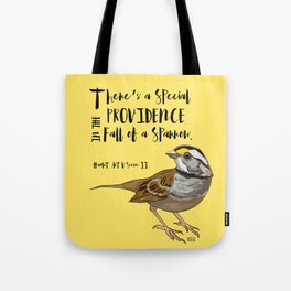 Fall Of A Sparrow Tote Bag