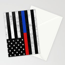 Fire Police Flag Stationery Cards