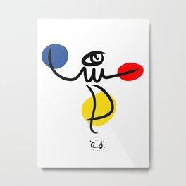 The Juggler of Life Minimal Art Design Metal Print