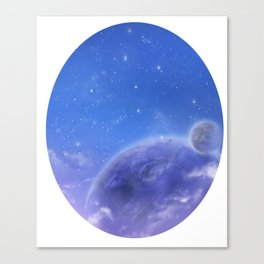 Moons in Evening Sky Canvas Print