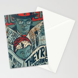 They're Watching Us Stationery Cards