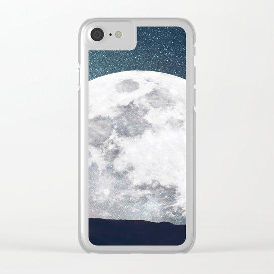 Halloween Moon Clear iPhone Case