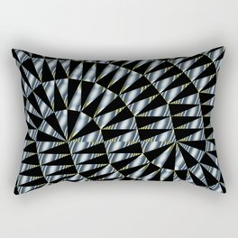 Triple Ts Fractal Rectangular Pillow