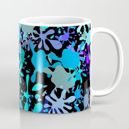 Blue Paint Splatters Coffee Mug