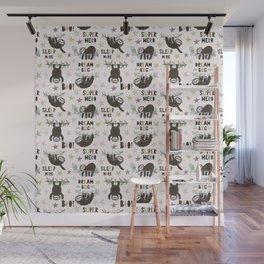 Dream big little sloth Wall Mural
