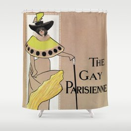 Vintage the Gay Parisienne Victorian theatre advertising Shower Curtain
