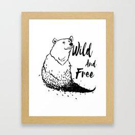 Wild and free bear Framed Art Print