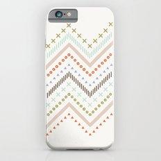 Mixed Zig Zag - in Mint iPhone 6s Slim Case