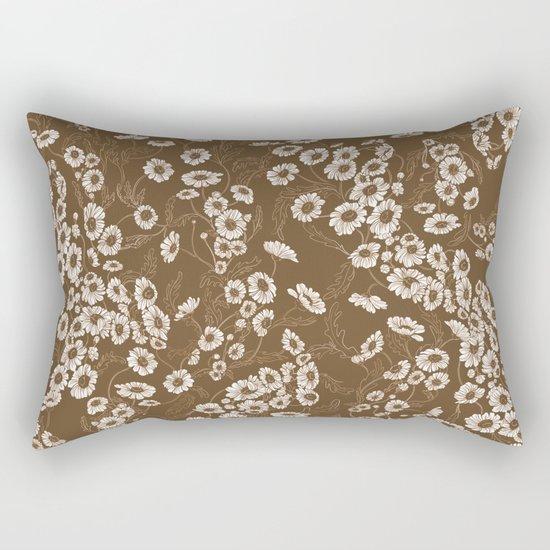 Daisy Dream Sepia Rectangular Pillow