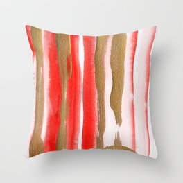 Gold & Apricot Throw Pillow