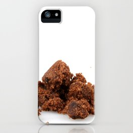 Brown Sugar On White Background iPhone Case
