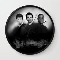derek hale Wall Clocks featuring Hale Pack Boys by Finduilas