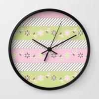 batik Wall Clocks featuring Batik  by Franciska Windy