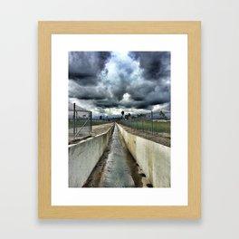 Storm Drain Framed Art Print