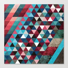 Geometric Candy Canvas Print