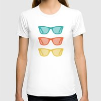 frames T-shirts featuring Ray Ban Frames Sunglasses by AleDan