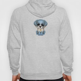 Cute Puppy Dog with flag of Argentina Hoody