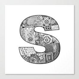 Cutout Letter S Canvas Print