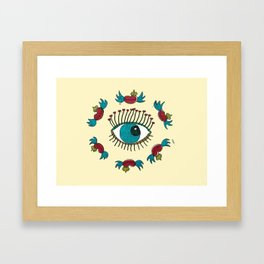SEE LOVE IN THE AIR Framed Art Print