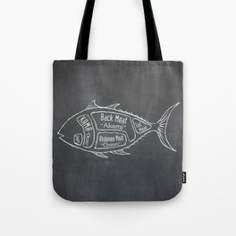 Tuna Butcher Diagram (Seafood Meat Chart) Tote Bag