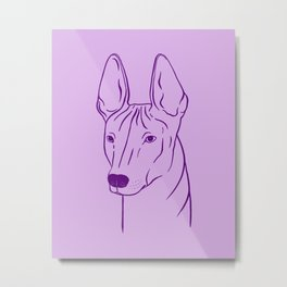Xoloitzcuintli (Violet and Purple) Metal Print