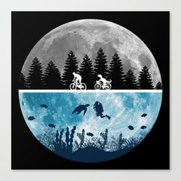 Close Encounters of the Moon Canvas Print