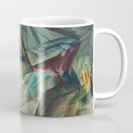 The Peddle Streamer III Nautical Landscape by Lyonel Feininger Coffee Mug
