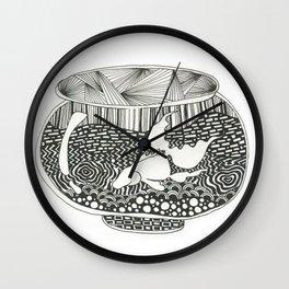 Fish Bowl Wall Clock