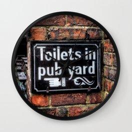 Victorian Pub Sign Wall Clock
