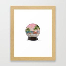 Vacation Globe Framed Art Print