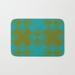 gradient squares pattern aqua olive Bath Mat