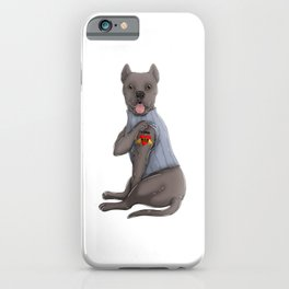 I Love Mom Tattoo Cane Corso Mom iPhone Case