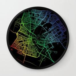 Salinas CA USA City Map Rainbow City Map Art Print Wall Clock