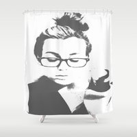 lorde Shower Curtains featuring White Teeth Teen by Paxton Keating