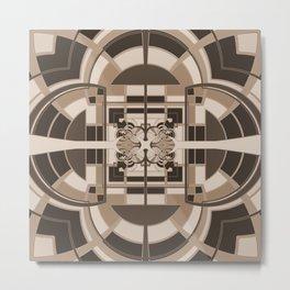 Brown Geometric Abstract Metal Print