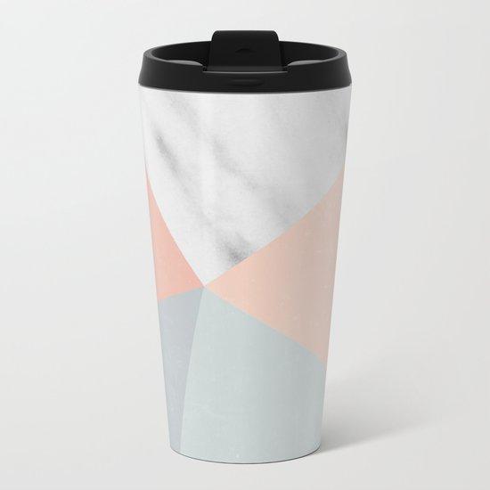 Blossom Geometry Metal Travel Mug
