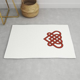 Celtic He Loves Me He Loves Me Knot Rug