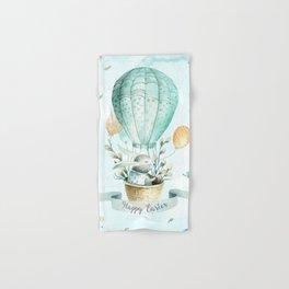 Cute Easter Bunny Hot Balloon Hand & Bath Towel