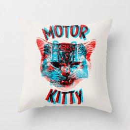 Motor Kitty Throw Pillow