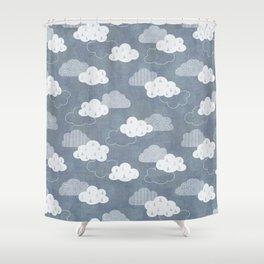 RAIN CLOUDS Shower Curtain