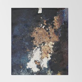 Alien Continents ruined wall texture grunge Throw Blanket