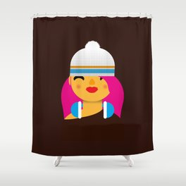 B-Girl Shower Curtain