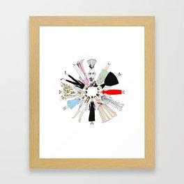 Audrey Circle Fashion Framed Art Print