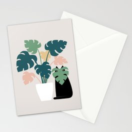 Cat and Plant 21: Leaf Me Alone Stationery Cards