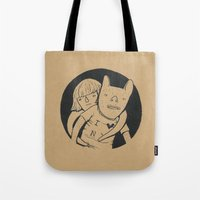 lovers Tote Bags featuring Lovers by Celia Marquis