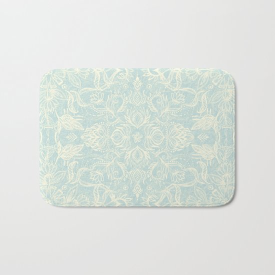 Pale Jade Tattoo - a pattern Bath Mat